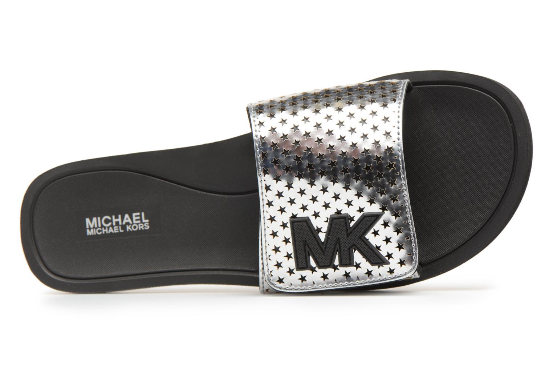Mules et sabots Michael Michael Kors MK Slide Argent vue gauche