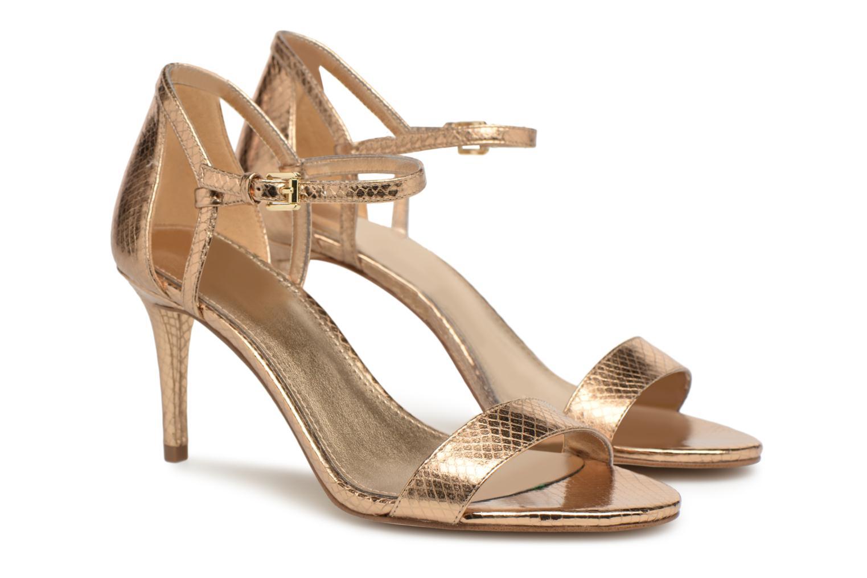 Sandales et nu-pieds Michael Michael Kors Simone mid sandal Or et bronze vue 3/4