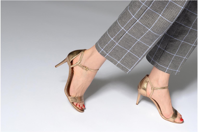 Sandales et nu-pieds Michael Michael Kors Simone mid sandal Or et bronze vue bas / vue portée sac