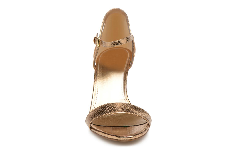 Sandales et nu-pieds Michael Michael Kors Simone mid sandal Or et bronze vue portées chaussures