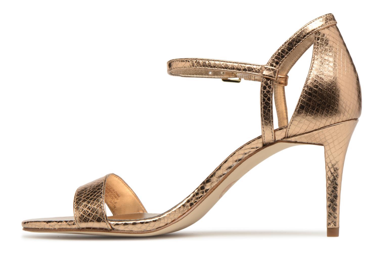 Sandales et nu-pieds Michael Michael Kors Simone mid sandal Or et bronze vue face