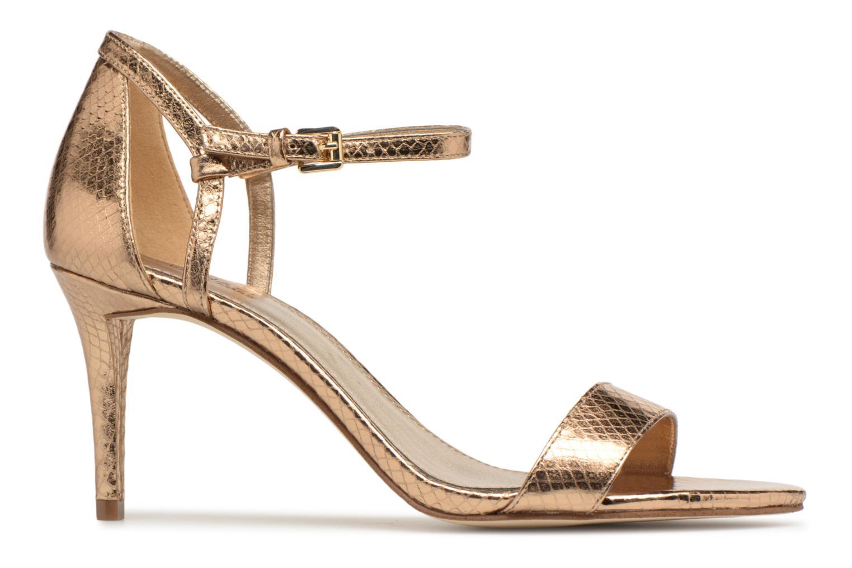 Sandales et nu-pieds Michael Michael Kors Simone mid sandal Or et bronze vue derrière