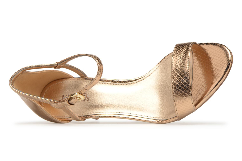 Sandales et nu-pieds Michael Michael Kors Simone mid sandal Or et bronze vue gauche
