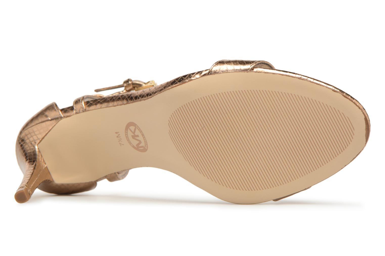 Sandales et nu-pieds Michael Michael Kors Simone mid sandal Or et bronze vue haut