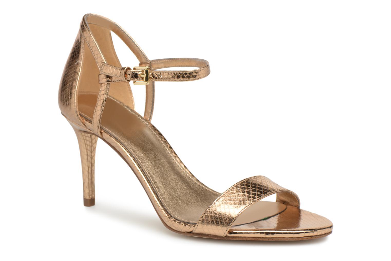 Sandales et nu-pieds Michael Michael Kors Simone mid sandal Or et bronze vue détail/paire