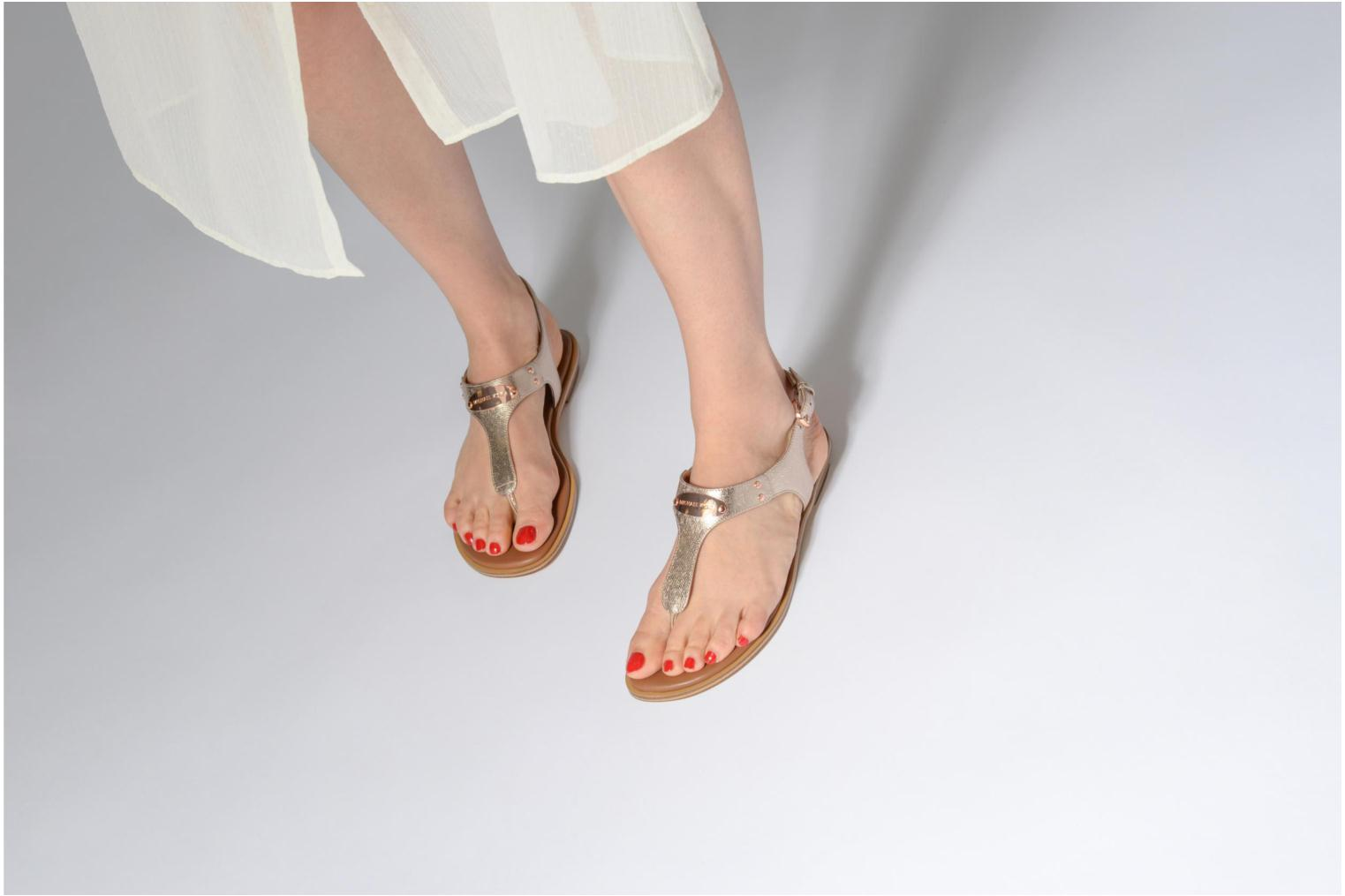 Sandals Michael Michael Kors Mk Plate tongue Pink view from underneath / model view