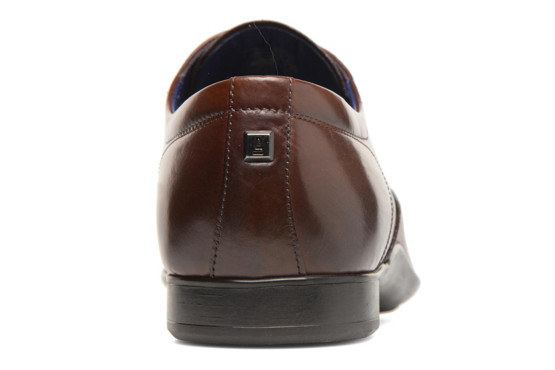Lace-up shoes Azzaro Piroman Brown back view