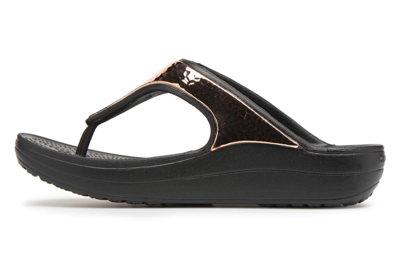 Tongs Crocs Sloane Hammered Met Flip W Or et bronze vue face
