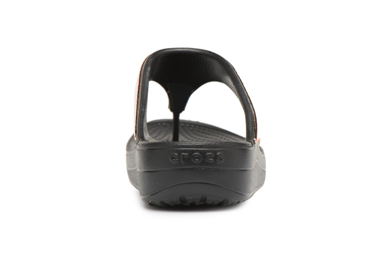 Tongs Crocs Sloane Hammered Met Flip W Or et bronze vue droite