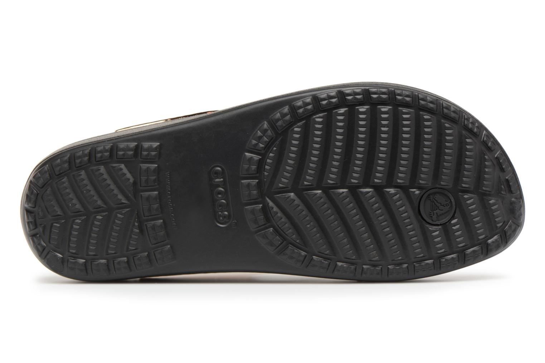 Tongs Crocs Sloane Hammered Met Flip W Or et bronze vue haut