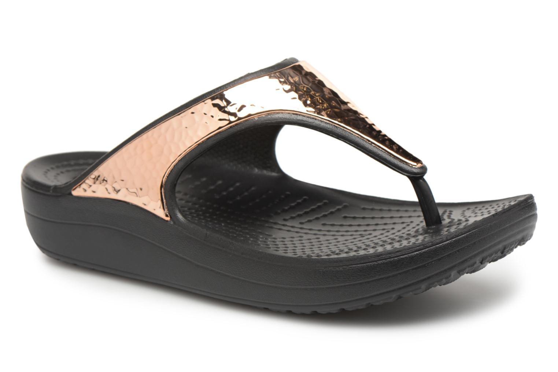 Tongs Crocs Sloane Hammered Met Flip W Or et bronze vue détail/paire