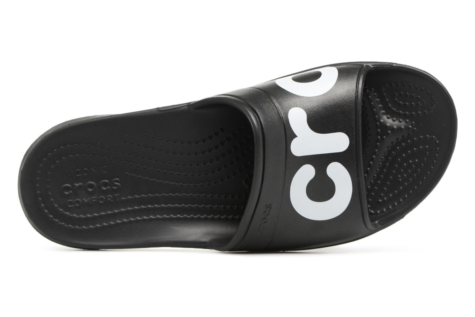 Mules & clogs Crocs Classic Graphic Slide Black view from the left