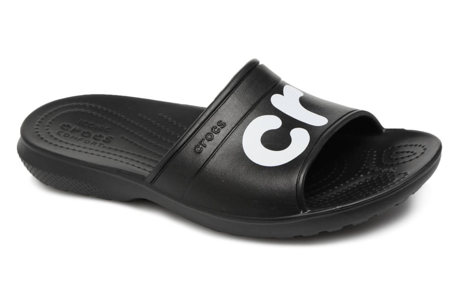 Mules & clogs Crocs Classic Graphic Slide Black detailed view/ Pair view