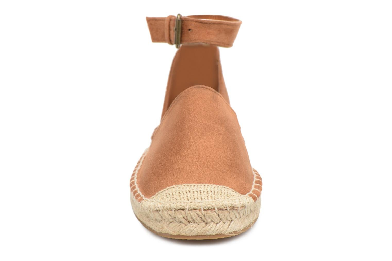 Espadrilles Divine Factory Clémence Marron vue portées chaussures
