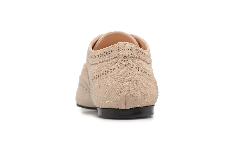 Chaussures à lacets Opéra national de Paris Olwen 1438 Beige vue droite