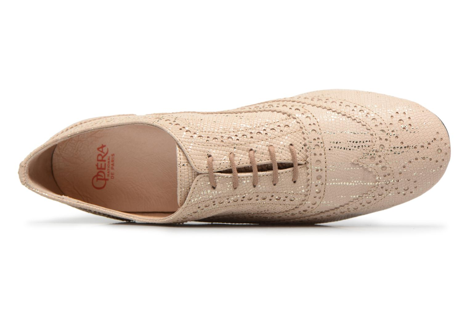 Lace-up shoes Opéra national de Paris Olwen 1438 Beige view from the left