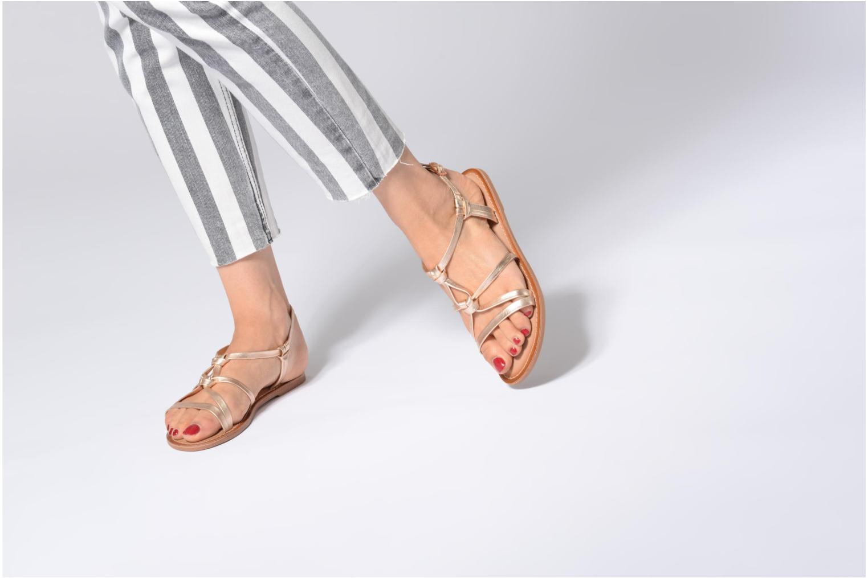 Sandales et nu-pieds I Love Shoes Kenania Leather Or et bronze vue bas / vue portée sac