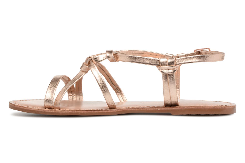 Sandales et nu-pieds I Love Shoes Kenania Leather Or et bronze vue face