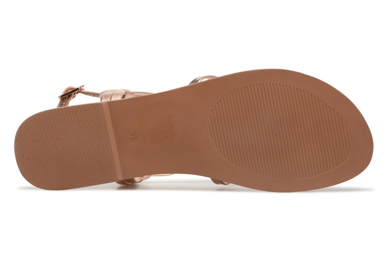 Sandales et nu-pieds I Love Shoes Kenania Leather Or et bronze vue haut