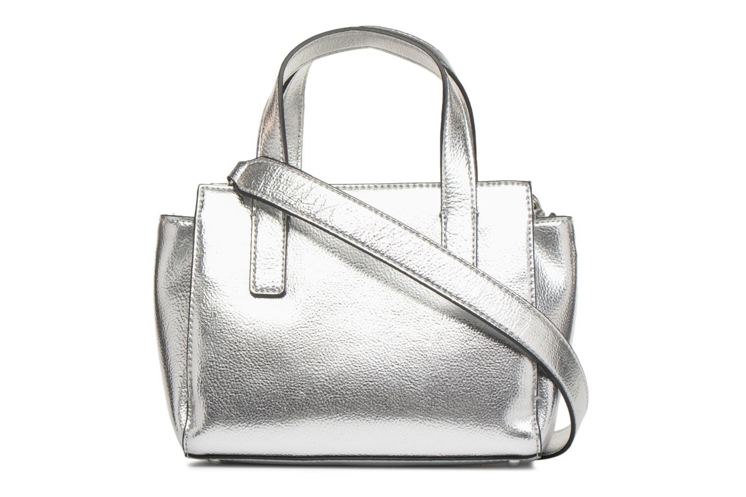 Sacs à main Guess Anuka Small Satchel Argent vue face