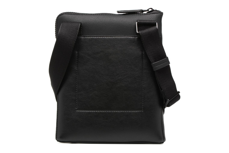 Herrentaschen Calvin Klein Elevated Logo Flat Crossover schwarz ansicht von vorne