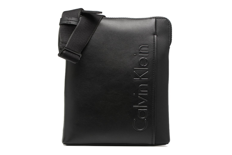 Herrentaschen Calvin Klein Elevated Logo Flat Crossover schwarz detaillierte ansicht/modell