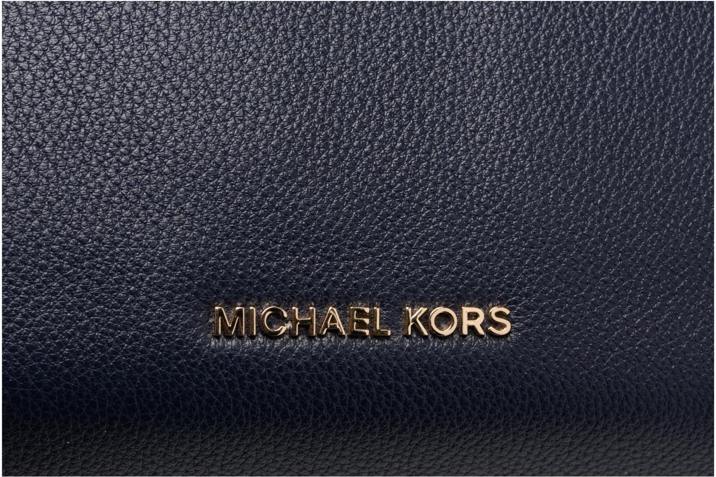 Bolsos de mano Michael Michael Kors RAVEN LG SHOULDER TOTE Azul vista lateral izquierda