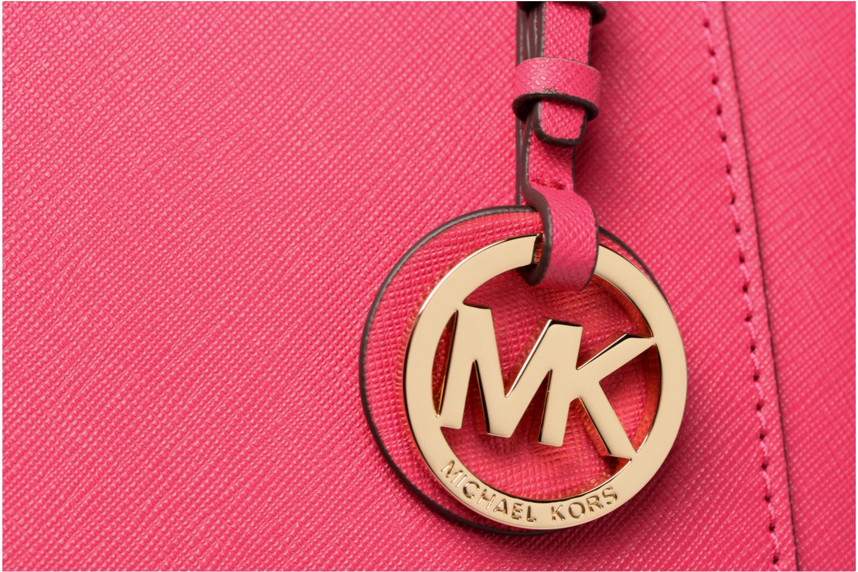 Bolsos de mano Michael Michael Kors Cabas JET SET ITEM EW TZ Tote Zippé Rosa vista lateral izquierda
