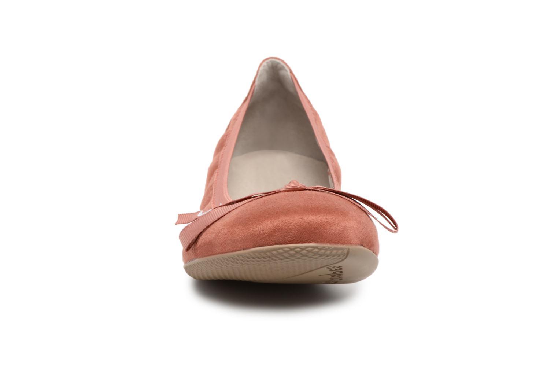 Ballerines Les P'tites Bombes Ella velours Orange vue portées chaussures