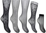 Strømper og tights Accessories Box Résille 3 Collants - 1 Mi-bas - 1 Socquettes