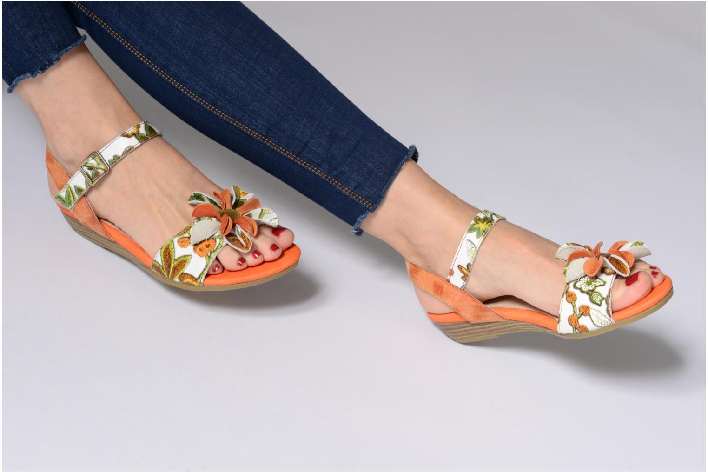 Sandales et nu-pieds Laura Vita Dune04 Orange vue bas / vue portée sac