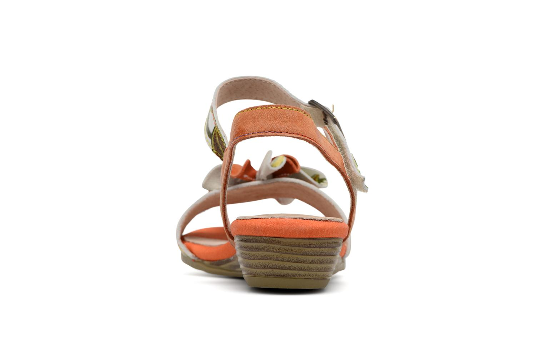 Sandales et nu-pieds Laura Vita Dune04 Orange vue droite