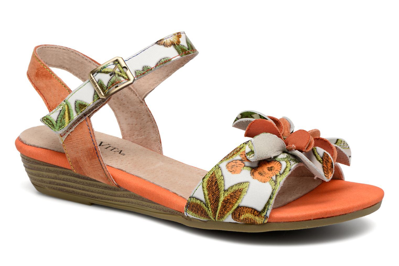Sandales et nu-pieds Laura Vita Dune04 Orange vue détail/paire