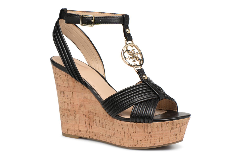Descuento de la marca Guess Gilian (Negro) - Sandalias en Más cómodo