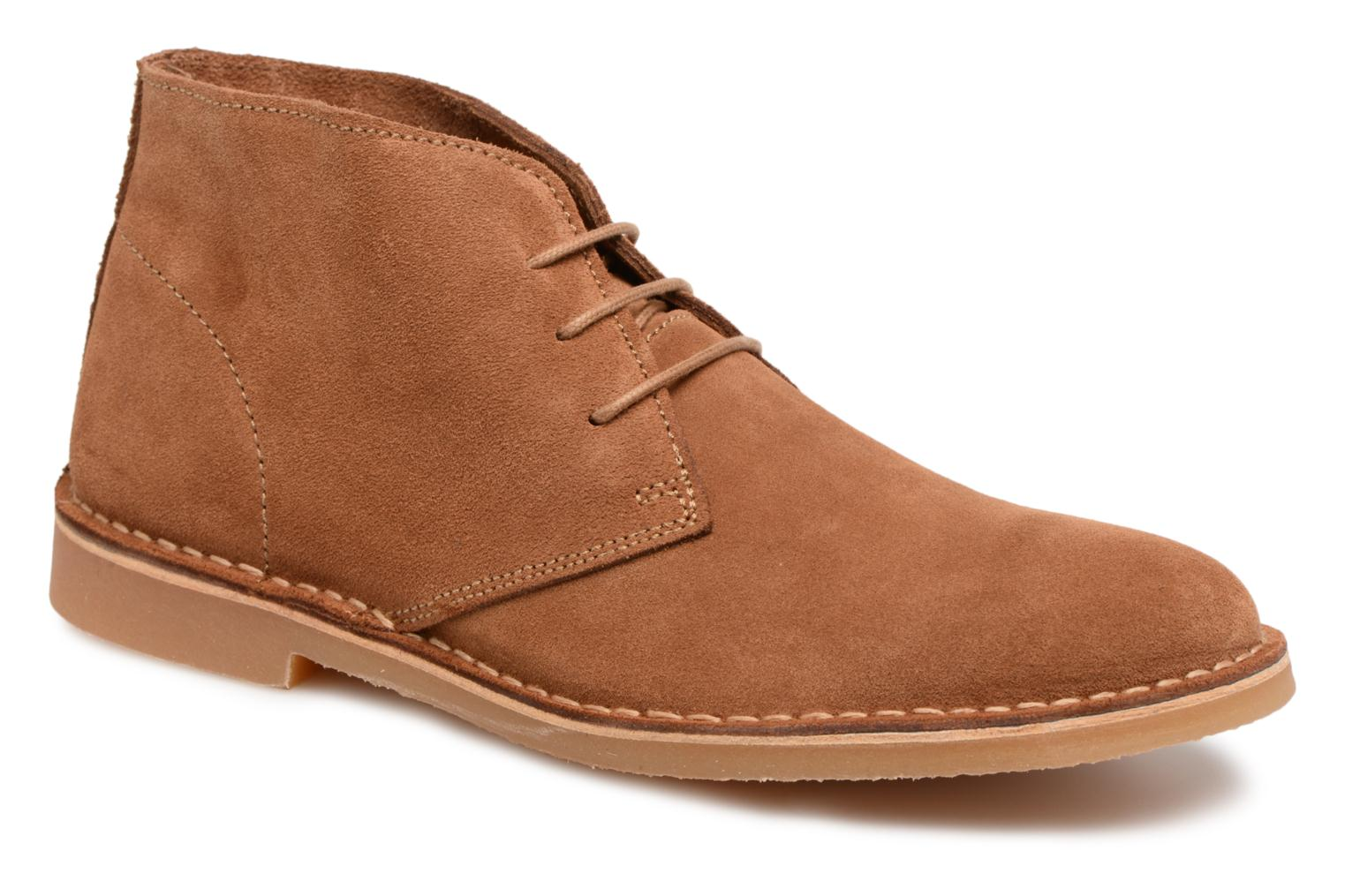 Marques Chaussure homme Selected Homme homme Royce Light Suede Boot 2 Cognac