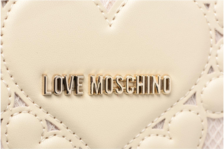 Pelletteria Love Moschino Portefeuille Love Intarsia Bianco immagine sinistra