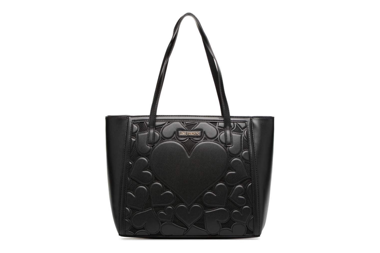 Sacs à main Love Moschino Cabas Zippé Love Intarsia Noir vue détail/paire