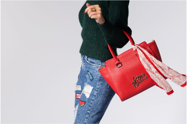 Handtassen Love Moschino Porté main Love Moschino Logo Rood boven
