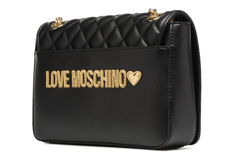 Sacs à main Love Moschino Porté épaule Super Quilted Noir vue droite