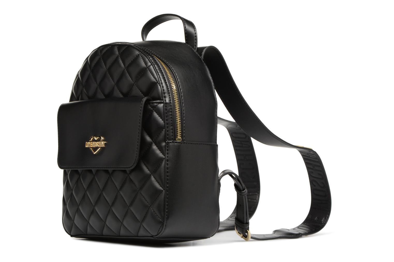 Sacs à dos Love Moschino Sac à dos Super Quilted Noir vue portées chaussures