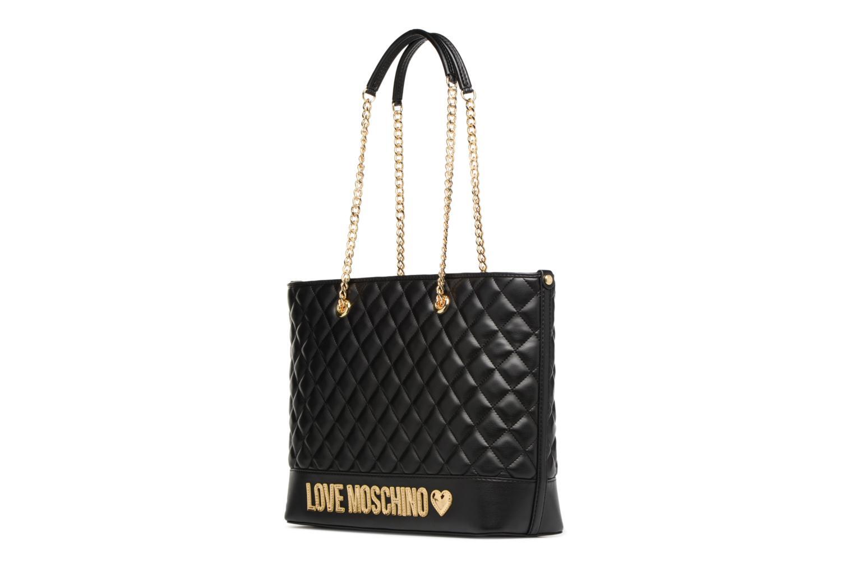 Handtassen Love Moschino Cabas Chaine Super Quilted Zwart model