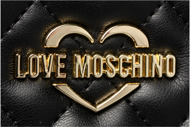 Handtassen Love Moschino Cabas Chaine Super Quilted Zwart links