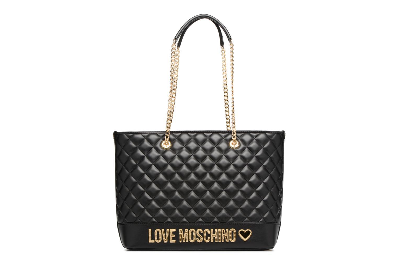 Handtassen Love Moschino Cabas Chaine Super Quilted Zwart detail