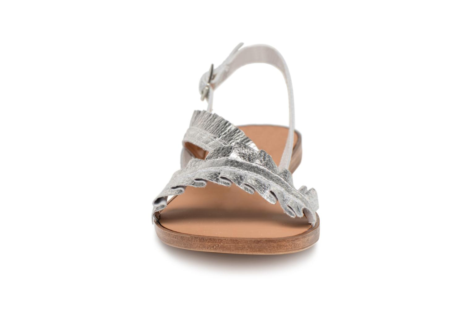 Silver Mindy Pieces Pieces leather leather Mindy sandal Silver sandal Pieces Mindy vx5PfI5q