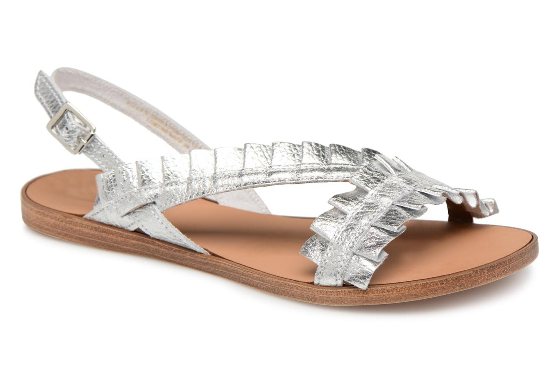 Zapatos promocionales Pieces Mindy leather sandal (Plateado) - Sandalias   Venta de liquidación de temporada