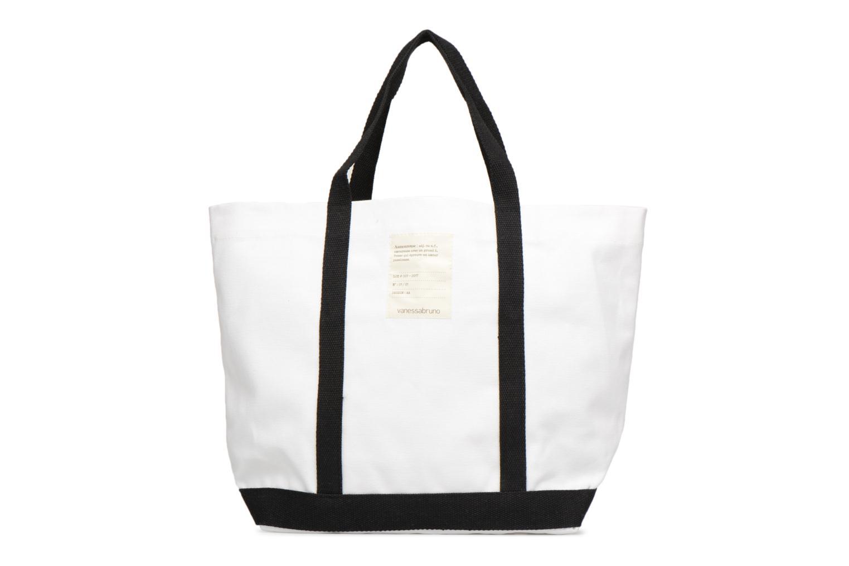 Handtassen Vanessa Bruno Cabas Coton Aamoureuse M+ Wit voorkant
