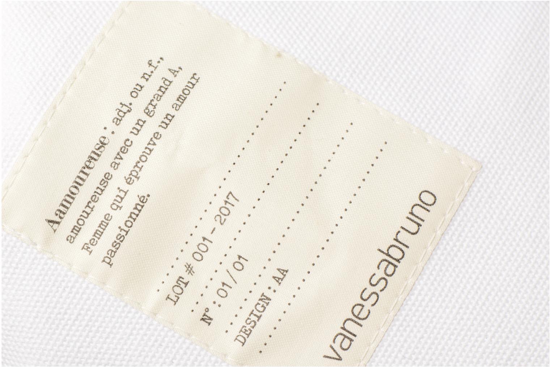 Handtassen Vanessa Bruno Cabas Coton Aamoureuse M+ Wit links