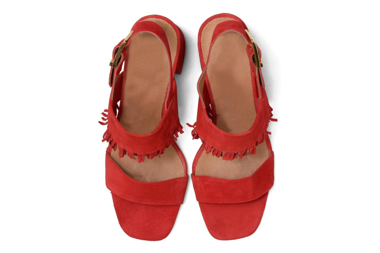 Sandales et nu-pieds Made by SARENZA Bombay Babes Sandales à Talons #1 Rouge vue portées chaussures