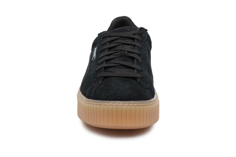 Baskets Puma Suede Platform Jewel Noir vue portées chaussures