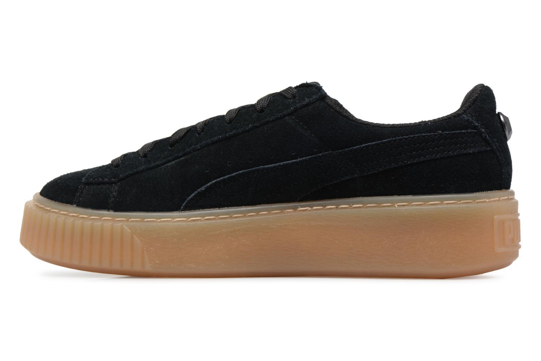Sneakers Puma Suede Platform Jewel Zwart voorkant
